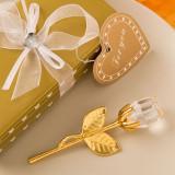 Aur alegere de cristal și cristal clar tulpina lunga a crescut - Marturii nunta