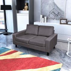 Canapea cu 2 locuri, gri închis - Cuvertura pat