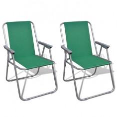 Set scaune pliabile de camping, Verde - Vesela camping