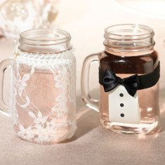 Mireasa si mirele Drink Capace din sticla - Pandantiv Swarovski