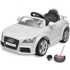 Mașină Audi TT RS pentru copii cu telecomandă, alb - Masinuta electrica copii