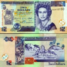 !!! BELIZE - 2 DOLARI 2011 - P 66 d - UNC - bancnota america