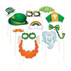 12 x Sf. Patrick_s Day Stick Costum Recuzita - Icoana pe lemn