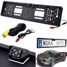 Cumpara ieftin Camera video auto marsarier universala pe suport numar cu Lumina Night Vision