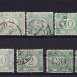 ROMANIA 1887/88, LOT TAXA DE PLATA FARA FILIGRAN STAMPILAT - Timbre Romania