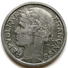 WW2, FRANTA, 1 FRANC 1944, Europa, Aluminiu