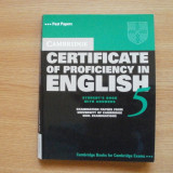 Examen Cambridge Certificate of Proficiency CPE 5 - Certificare
