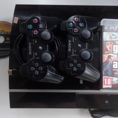 Consola Sony PS3 PlayStation 3 impecabila + jocuri FIFA NFS GTA 2x Gamepad 80Gb