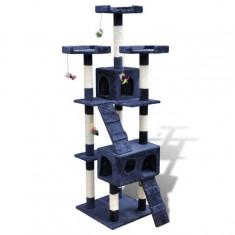Ansamblu de joacă cu stâlp 170 cm 2 căsuțe Bleumarin - Supape Ansamblu supape
