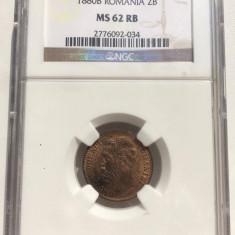 2 bani 1880 MS62RB NGC - Moneda Romania
