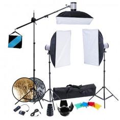 Kit studio (3 blițuri, braț boom fără sistem fundal) - Lumini Studio foto