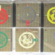 6 CD-uri Muzica Terapeutica Chineza FIRE *WATER* WOOD* EARTH* METAL + REGIMEN - Muzica Ambientala