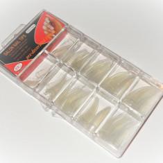 TIPSURI STILETTO TRANSPARENTE SANT LAT SET 100 BUC. - Unghii false