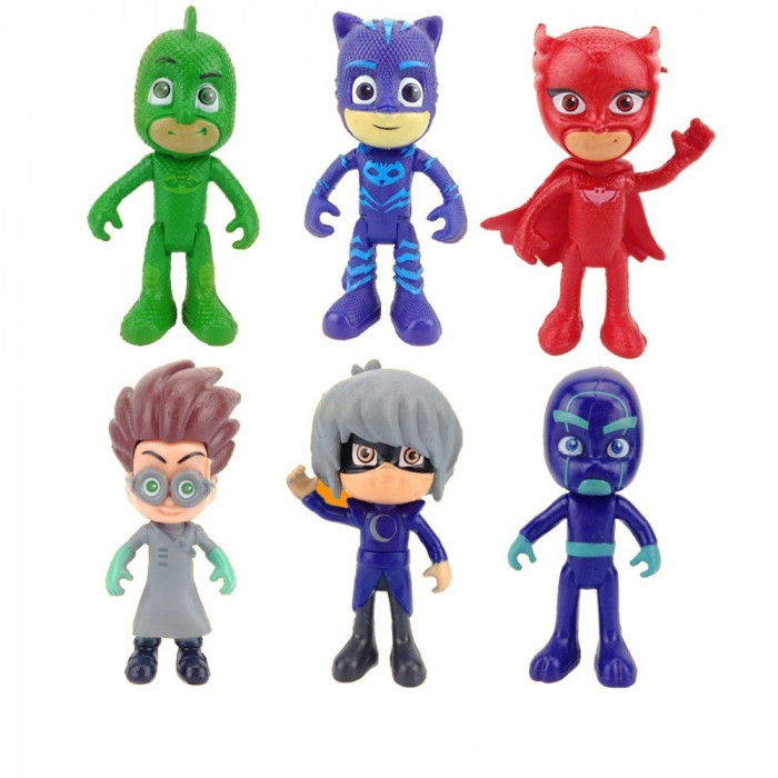 Set 6 jucarii Figurine Eroi in Pijama jucarii eroi in pijamale set 6 PJMASKS foto mare
