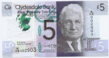 Scotia 5 Pounds 2016 - Sir William Arrol, Polimer P-New UNC !!!