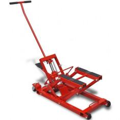Cric hidraulic pentru motocicletă/ATV 680 kg, roșu - Elevator motociclete