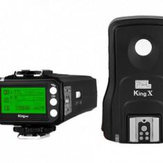 Pixel King Pro Full Set - transmitator + receptor TTL pt NIKON - Echipament Foto Studio