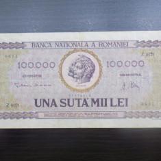 Bancnota Romania 100.000 / 100000 lei ianuarie 1947 - Bancnota romaneasca