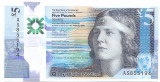 Scotia 5 Pounds 2016 - Nan Shepherd, Polimer P-New UNC  !!!