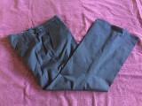 Pantaloni office dama ZARA, mas. 44, Bleumarin, Bumbac