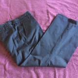 Pantaloni office dama ZARA, mas. 44 - Pantaloni dama, Culoare: Bleumarin, Bumbac