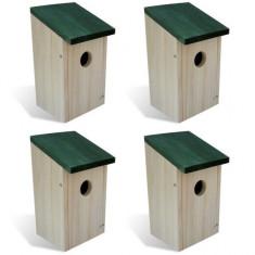 Căsuță cuib pentru păsări din lemn, 4 buc - Furtun benzina Moto