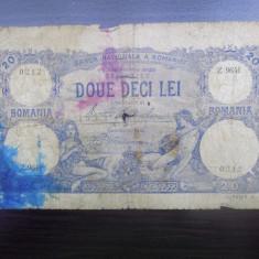 Bancnota Romania 20 lei 1929 - Bancnota romaneasca