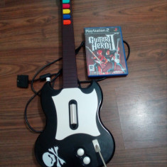 Chitara Guitar Hero PS2 + Joc Guitar Hero 2 - Jocuri PS2 Activision