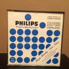 Banda Magnetofon PHILIPS in cutie - diametru rola 18 cm- stare foarte buna/RFG