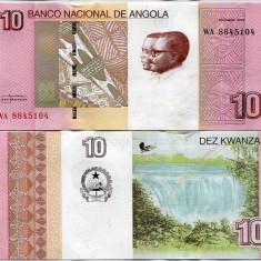 ANGOLA- 10 KWACHA 2012(2017)- P NEW- UNC!! - bancnota africa
