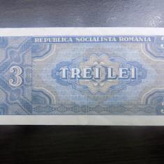 Bancnota Romania 3 lei 1966