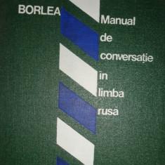 MANUAL DE CONVERSATIE IN LIMBA RUSA AN 1976/542PAG= SIMA BORLEA