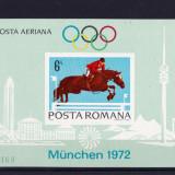 L.P 789 Preolimpiada Munchen 1972 colita nedantelata - Timbre Romania, Nestampilat