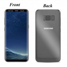 Samsung S8 S8+ Folie Clara din Silicon Curbata Fata si Spate - Folie de protectie, Lucioasa