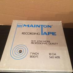 Banda Magnetofon MAINTON TAPE - 7 inch/1800 ft - stare buna/ made in USA