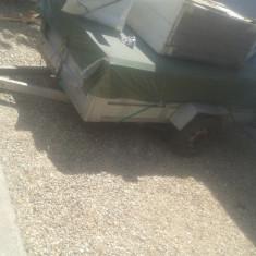 Remorca motocultor din aluminiu
