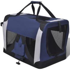 Geantă animale de companie, portabilă și pliabilă cu ferestre, M - Geanta si cusca transport animal