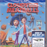 Film Blu Ray 3D: Cloudy With a Chance of Meatballs (sigilat - dublat in romana ) - Film animatie