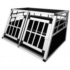 Cușcă transport câini în două uși