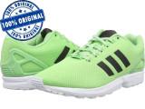 Pantofi sport Adidas Originals ZX Flux pentru femei - adidasi originali - panza, 38, Verde, Textil