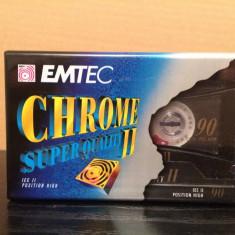Caseta Audio marca EMTEC/BASF -Chrome Super Quality 90 min - Nou/Sigilat/Germany - Casetofon
