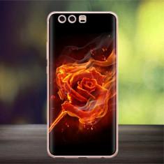 Husa silicon design matrita Huawei P10 - trandafir in flacari - Husa Telefon Huawei, Huawei P8 Lite