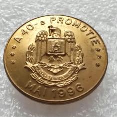 INSIGNA ACADEMIA TEHNICA MILITARA-A -40- A PROMOTIE-MAI 1996