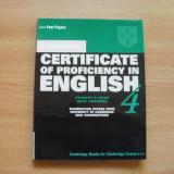Examen Cambridge Certificate of Proficiency CPE 4 - Certificare