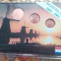 Mini set euro Olanda : 1, 2, 5 eurocenti noi, Europa, An: 2000