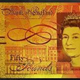 Bancnota aurita 50 lire sterline Bancnota Fifty Pounds Marea Britanie - bancnota europa
