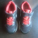 Nike Air Max originali, piele naturala+textil, marimea 29, 5-18 cm. - Adidasi copii Nike, Culoare: Negru, Unisex