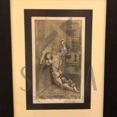 TABLOU, MARCEL CHIRNOAGA, grafica 26 CM X 15 CM - Pictor roman