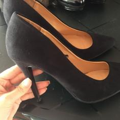 Pantofi Stiletto Negri Athmosphere - Pantof dama, Culoare: Negru, Marime: 38, Cu toc