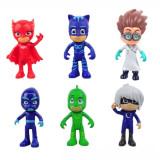 Set 6 eroi in pijama pijamale sopi pisoi bufnita fata luna romeo ninja nocturnul - Figurina Animale